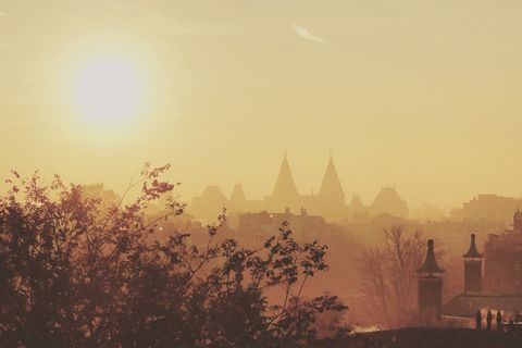 amsterdam in de mist