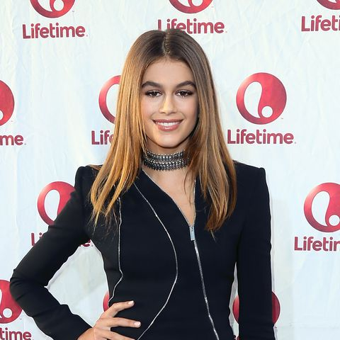 hollywood, ca   august 31  actress kaia gerber attends the premiere of lifetimes sister cities at paramount theatre on august 31, 2016 in hollywood, california  photo by david livingstongetty images