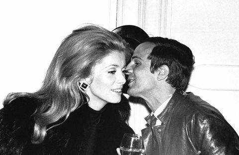 francois truffaut et catherine deneuve  paris, france, circa 1970  photo by reporters associesgamma rapho via getty images