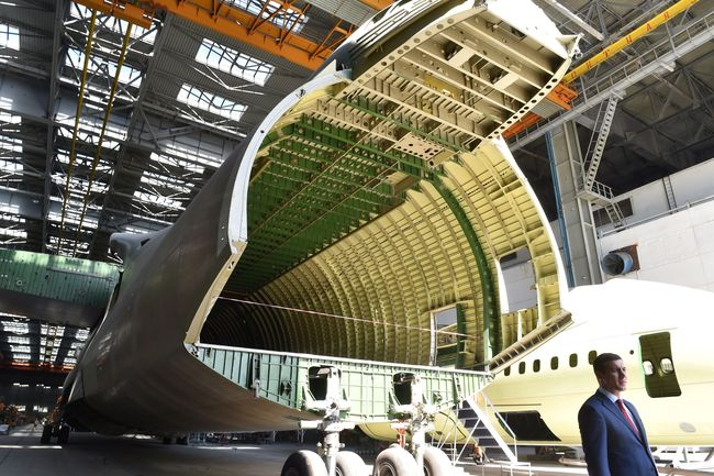 A fuselagem inacabada de um segundo An-225 em Kiev, em 7 de setembro de 2016.