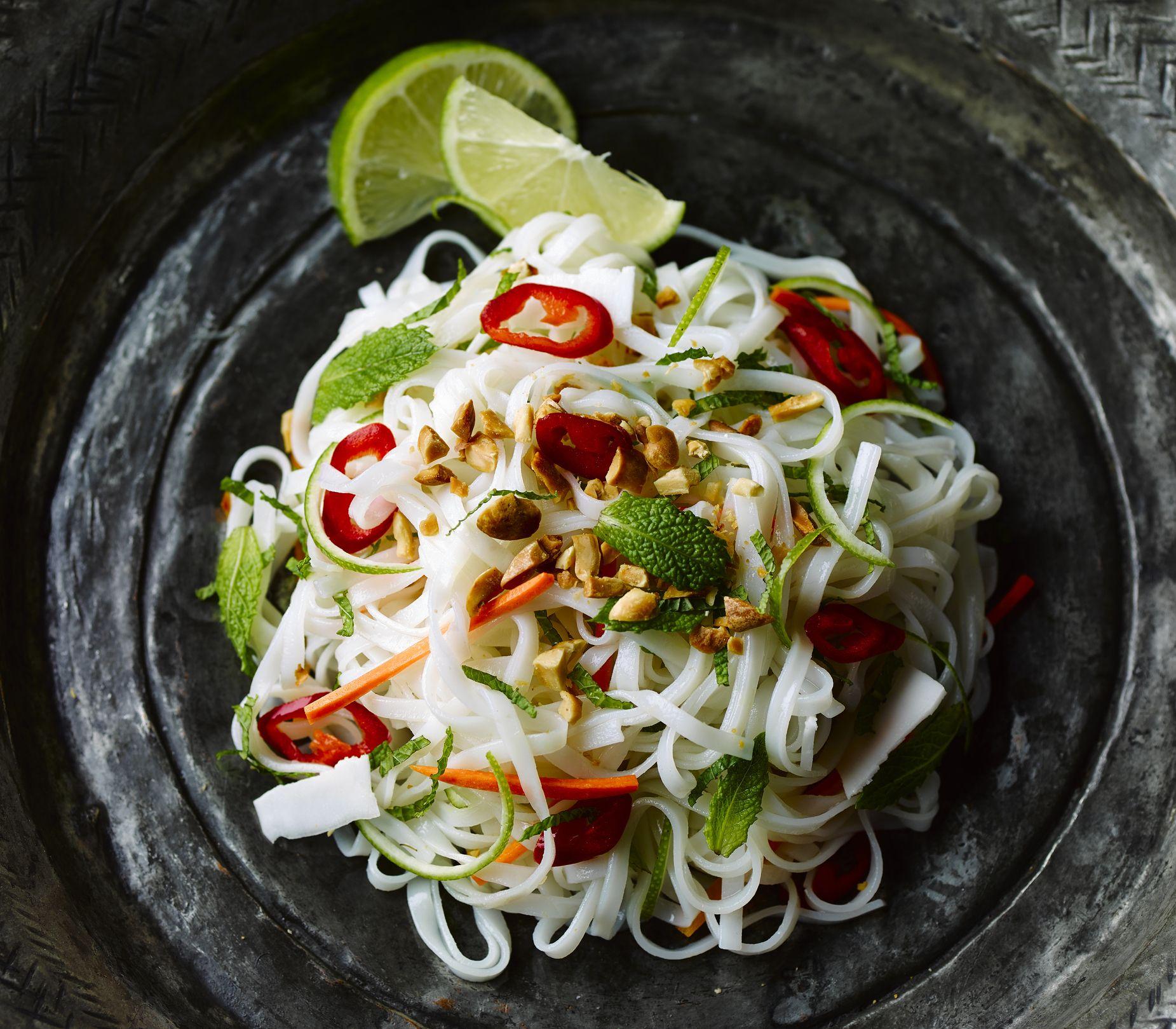 Thai hot and sour salad with crispy tofu