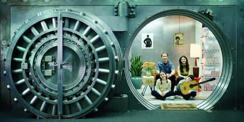 Family Living in a Vault