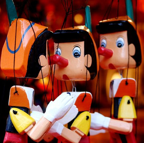 Close-Up Of Pinocchio Puppets