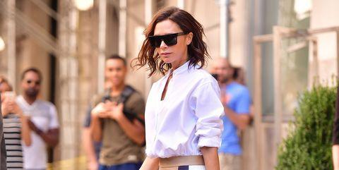 White, Clothing, Street fashion, Fashion, Shoulder, Blue, Shirt, Eyewear, Jeans, Denim,