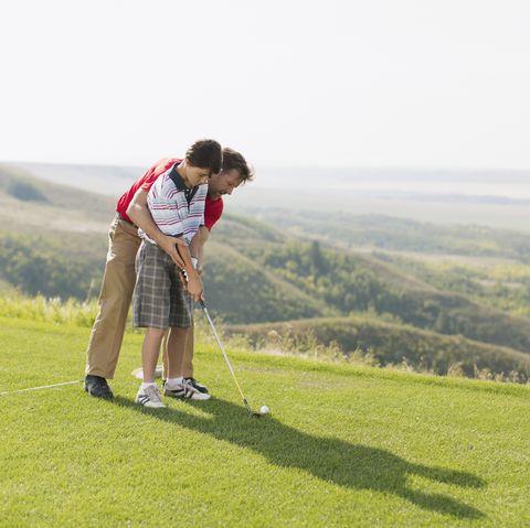 Golf, Golfer, Grassland, Highland, Golf club, Golf equipment, Professional golfer, Outdoor recreation, Recreation, Golf course,