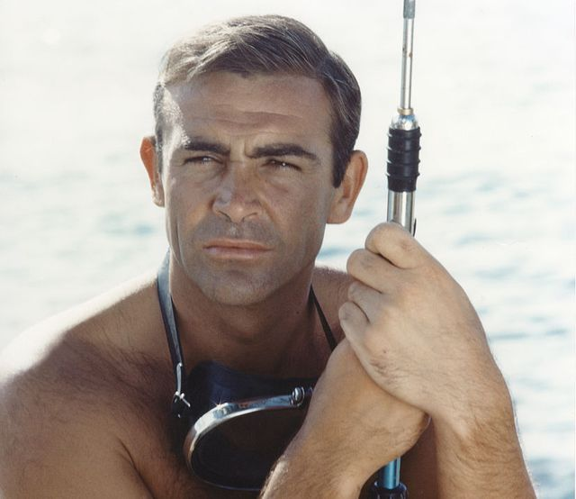 actor sean connery on the set of thunderball photo by sunset boulevardcorbis via getty images