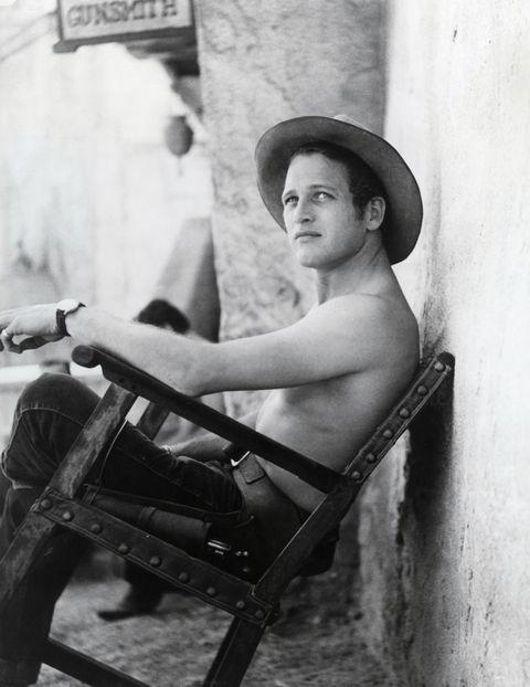 Paul Newman durante el rodaje de El zurdo