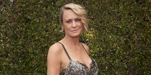 Robin Wright on her sleepwear Pour Les Femmes
