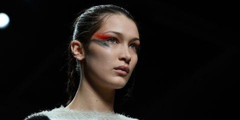 Lip, Hairstyle, Eyebrow, Eyelash, Eye shadow, Fashion, Beauty, Sweater, Fashion model, Model,