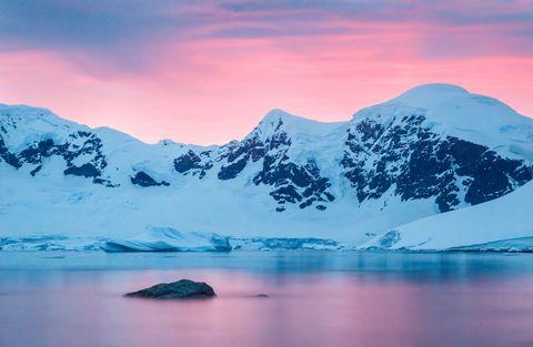 Pink Sunset Antarctica