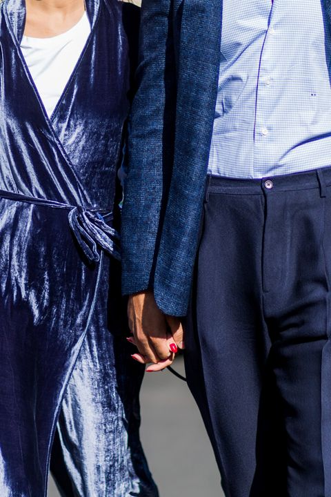 Clothing, Blue, Jeans, Denim, Cobalt blue, Outerwear, Electric blue, Street fashion, Fashion, Textile,