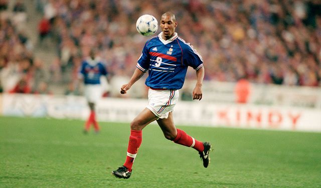 nicolas anelka france in action during a qualifying match for the 2000 uefa euro against ukraine the teams tied 0 0  location saint denis, france  photo by christian liewigtempsportcorbis via getty images