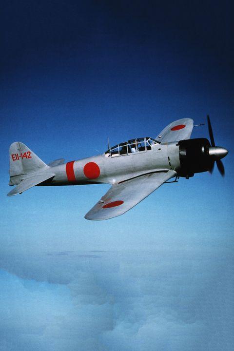 Japanese Mitsubishi Zero Fighter in Flight