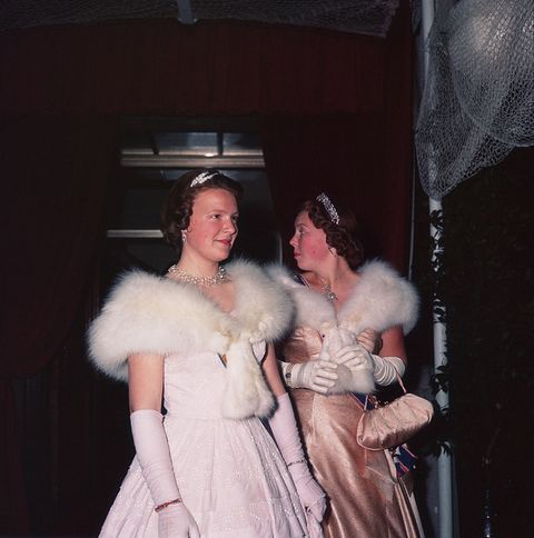 young princesses, dressed in evening wear photo by © hulton deutsch collectioncorbiscorbis via getty images