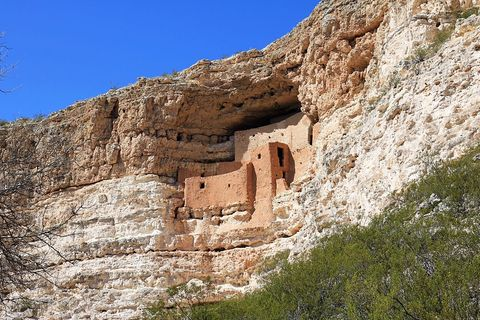 ancient native american indian cliff dwellings preserved in montezuma castle national monument arizona photo by education imagesuniversal images group via getty images