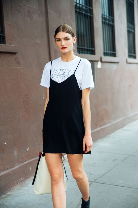 Clothing, White, Fashion model, Black, Shoulder, Street fashion, Photograph, Fashion, Dress, Black-and-white,