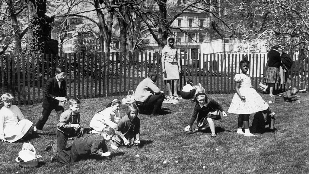 easter egg roll, white house, 1900