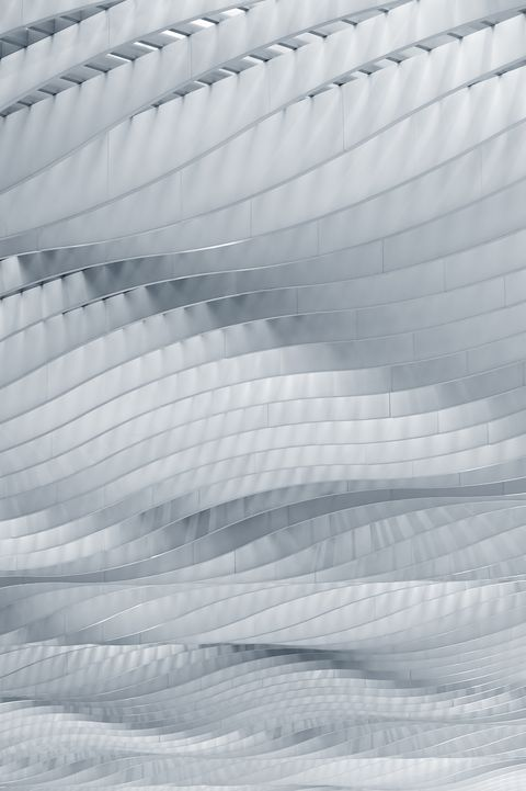 wave pattern on roof