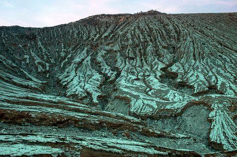 sulfuric volcano indonesia