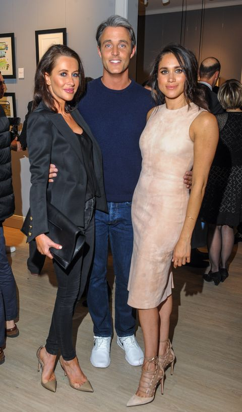 Jessica Mulroney, Ben Mulroney, and Meghan Markle, photographed together in  2016.
