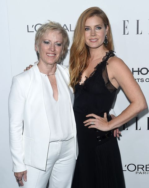 los angeles, ca   october 24  actress amy adams and mom kathryn adams arrive at the 23rd annual elle women in hollywood awards at four seasons hotel los angeles at beverly hills on october 24, 2016 in los angeles, california  photo by axellebauer griffinfilmmagic