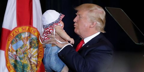 President Trump with a baby