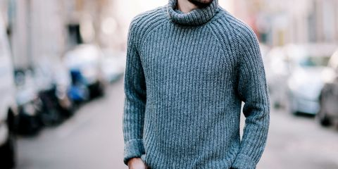 Clothing, Sweater, Woolen, Wool, Blue, Neck, Outerwear, Sleeve, Street fashion, Turquoise,