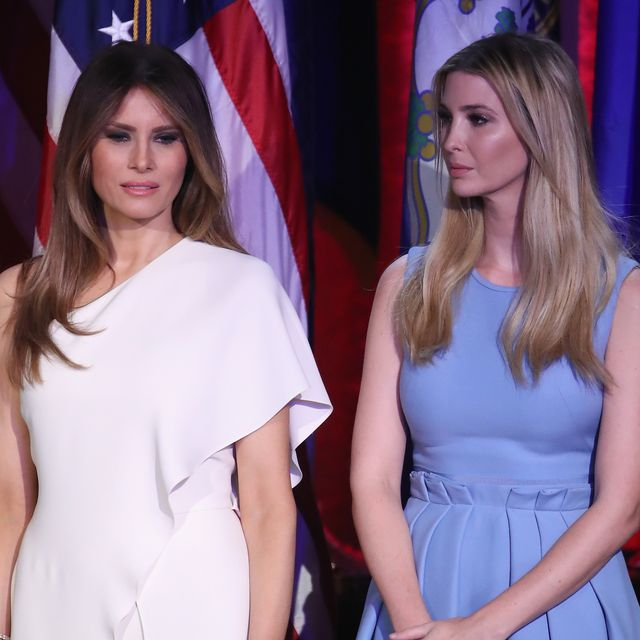 new york, ny   november 09 melania trump and ivanka trump stand on stage during republican president elect donald trumps election night event at the new york hilton midtown in the early morning hours of november 9, 2016 in new york city donald trump defeated democratic presidential nominee hillary clinton to become the 45th president of the united states  photo by mark wilsongetty images
