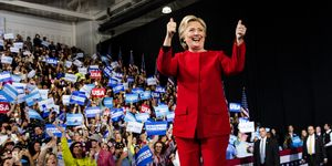 Democratic Nominee Hillary Clinton Campaigns In Final Stretch Of Election