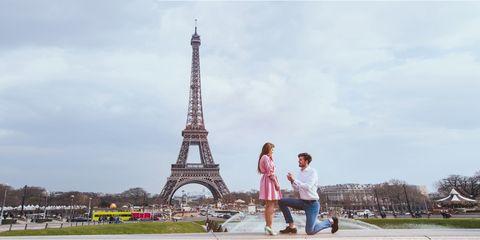 wedding proposal in Paris, engagement, marry me