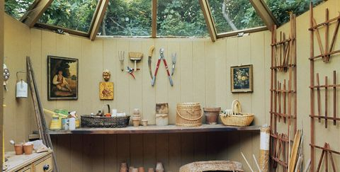 a garden shed designed by bunny mellon for hairstylist, kenneth battelle  local caption