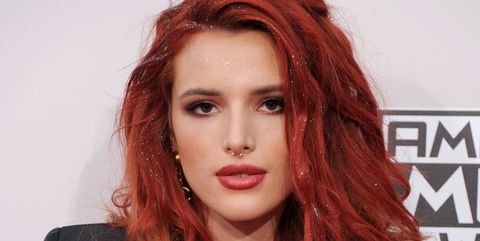 Hair, Face, Hair coloring, Red hair, Hairstyle, Red, Green, Beauty, Long hair, Fashion,