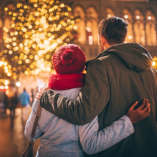 Romance on Christmas market
