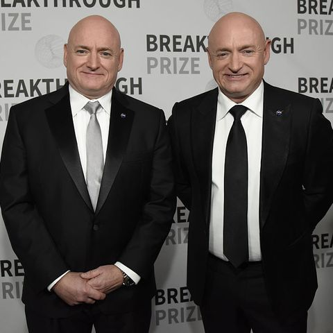 mountain view, ca   december 04  scott kelly l and mark kelly attend the 5th annual breakthrough prize ceremony at nasa ames research center on december 4, 2016 in mountain view, california  photo by tim mosenfeldergetty images