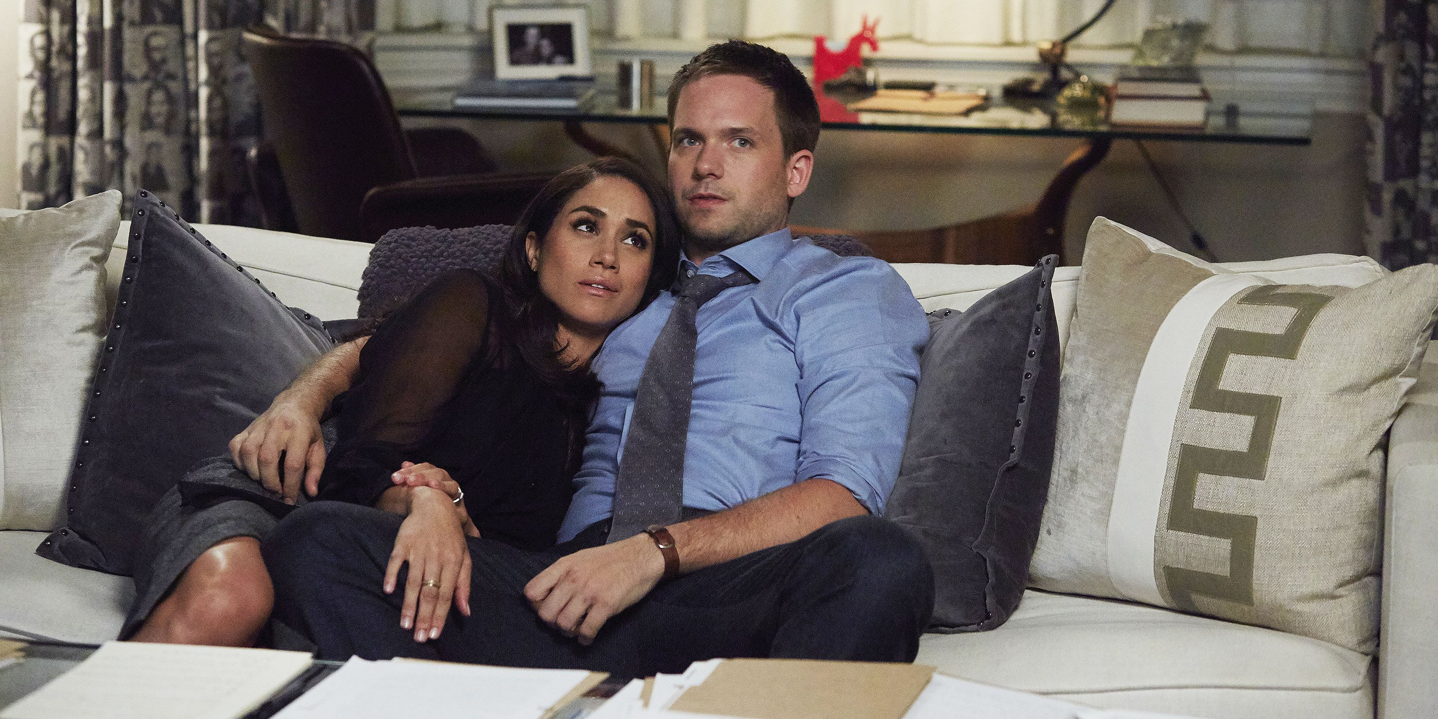 "Meghan Markle and Patrick J. Adams on ""Suits"""