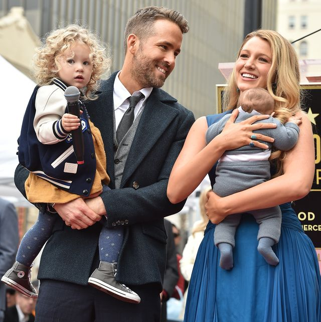 hollywood, ca   december 15  actors ryan reynolds and blake lively with daughters james reynolds and ines reynolds attend the ceremony honoring ryan reynolds with a star on the hollywood walk of fame on december 15, 2016 in hollywood, california  photo by axellebauer griffinfilmmagic