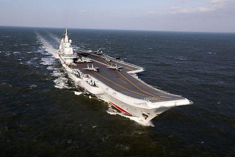 China S Aircraft Carrier Liaoning Sails Into Hong Kong July 7 2017