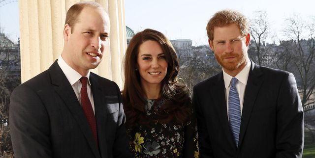 london, england   january 17  l r prince william, duke of cambridge, catherine, duchess of cambridge and prince harry during an event to announce plans for heads together ahead of the 2017 virgin money london marathon at ica on january 17, 2017 in london, england  heads together, charity of the year 2017, is led by the duke  duchess of cambridge and prince harry in partnership with leading mental health charities  photo by stefan wermuth   wpa pool getty images