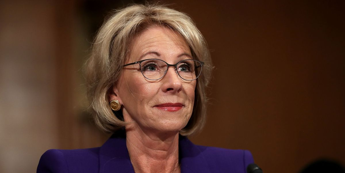People Are Not Happy with This Conservative Cartoonist's Portrayal of Betsy DeVos