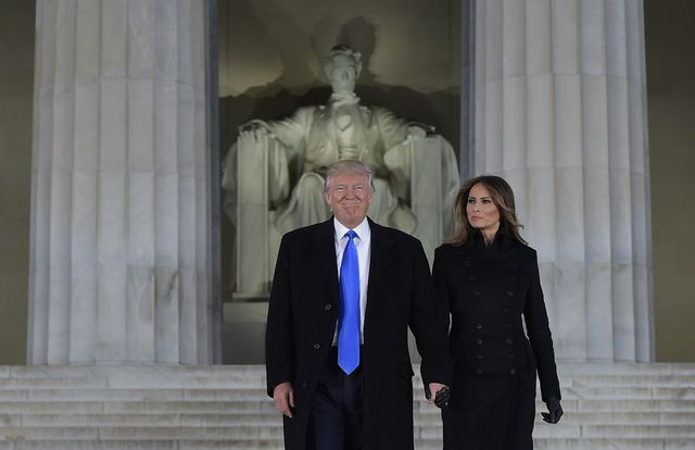 topshot   us president elect donald trump and his wife melania arrive to attend an inauguration concert at the lincoln memorial in washington, dc, on january 19, 2017 photo by mandel ngan  afp photo by mandel nganafp via getty images