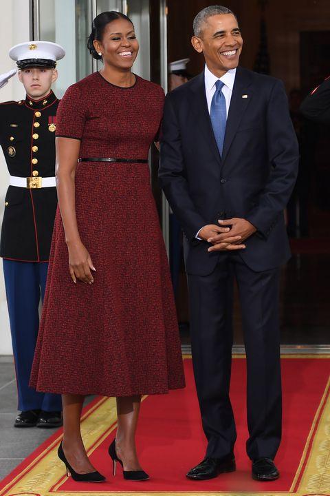 Barack and michelle obama attend trump inauguration ceremony image m4hsunfo