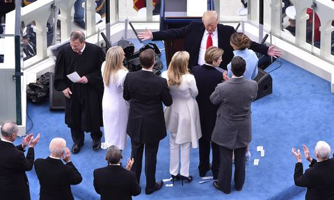 Formal wear, Suit, Suit trousers, Conversation, White-collar worker, Flag, Umbrella, Ceremony, Businessperson, Pantsuit,