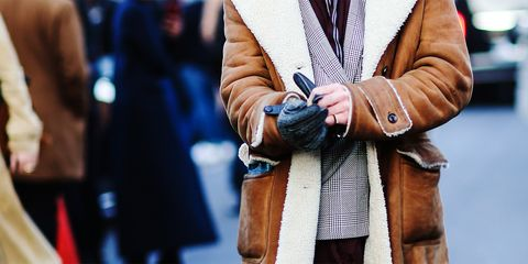 Street fashion, Photograph, People, Fashion, Snapshot, Human, Outerwear, Coat, Hand, Leather,