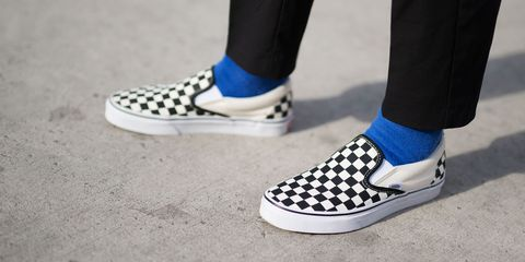 Footwear, Shoe, White, Polka dot, Pattern, Design, Plimsoll shoe, Sneakers, Street fashion, Leg,