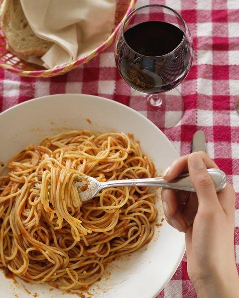 Dish, Cuisine, Food, Al dente, Spaghetti, Chow mein, Bigoli, Pici, Noodle, Chinese noodles,