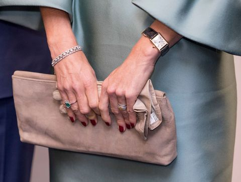 Hand, Brown, Fashion, Leather, Nail, Finger, Fashion accessory, Gesture, Beige, Bag,