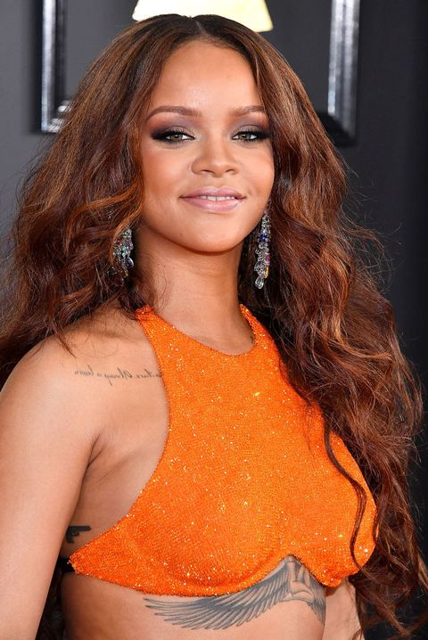 los angeles, ca   february 12  rihanna arrives at the 59th grammy awards on february 12, 2017 in los angeles, california  photo by steve granitzwireimage