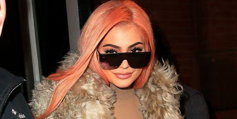 Eyewear, Clothing, Fur, Fur clothing, Sunglasses, Fashion, Outerwear, Dress, Lip, Blond,