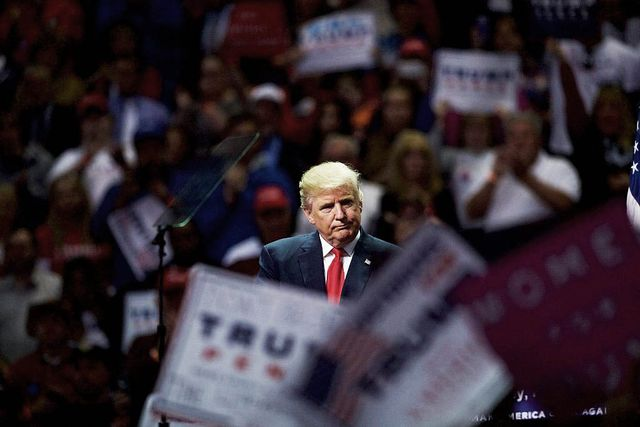 hershey, pa   november 4  republican presidential nominee donald j trump holds a rally at giant center november 4, 2016 in hershey, pennsylvania  polls have narrowed in the waning days of the campaign before election day on november 8  photo by mark makelagetty images