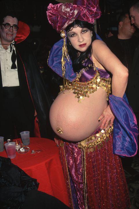 Pregnant Cyndi Lauper as Belly Dancer